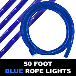 Blue Rope Lights 50 Foot