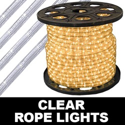 201 Foot Clear Rope Lights 4 Inch Segments