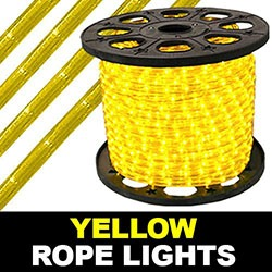 150 Foot Yellow Rope Lights 8 Inch Segments