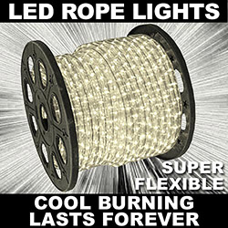 30 Foot White LED Rope Lights