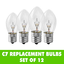 Clear C7 Night Light Bulbs Set of 12