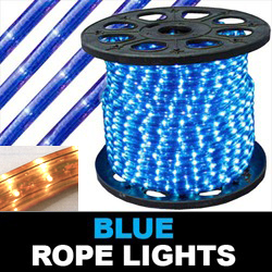 150 Foot Rectangle Blue Rope Lights 18 Inch Increments