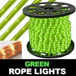 150 Foot Rectangle Green Rope Lights 18 Inch Increments