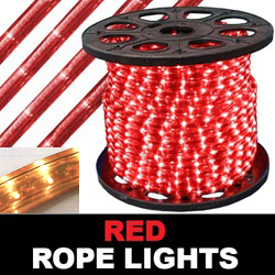 150 Foot Rectangle Red Rope Lights 18 Inch Increments