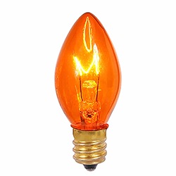 100 Incandescent C7 Amber Twinkle Transparent Retrofit Night Light Replacement Bulbs