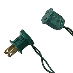 Male Quick Plug 18 Gauge Green Wire 6 per Set