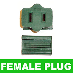 16 Gauge Female Plug Green Wire 6 per Set