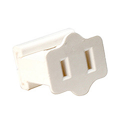 Female Quick Plug 18 Gauge White Wire 6 per Set