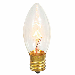 25 Incandescent C9 Clear Transparent Retrofit Replacement Bulbs