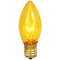 25 Incandescent C9 Gold Transparent Retrofit Replacement Bulbs