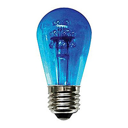 10 Incandescent S14 Patio Transparent Blue Retrofit Replacement Bulbs