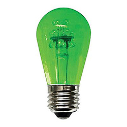 10 Incandescent S14 Patio Transparent Green Retrofit Replacement Bulbs