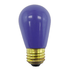 10 Incandescent S14 Patio Ceramic Blue Retrofit Replacement Bulbs