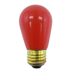 10 Incandescent S14 Patio Ceramic Red Retrofit Replacement Bulbs