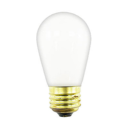 10 Incandescent S14 Patio Ceramic White Retrofit Replacement Bulbs