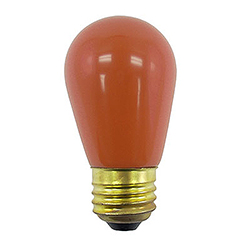 10 Incandescent S14 Patio Ceramic Orange Retrofit Replacement Bulbs