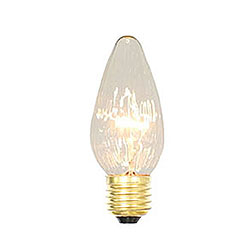 25 Incandescent F15 Clear Flame Retrofit Replacement Bulb - 40 Watt Medium/E26 Base
