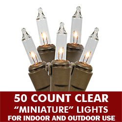 50 Light Clear Brown Wire