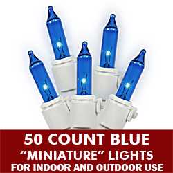 50 Light Blue White Wire