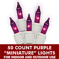 50 Light Purple White Wire