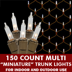 150 Twinkling Clear Lights 2 Foot x 8 Foot Net Brown Wire
