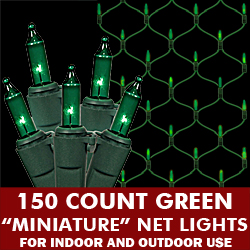 150 Light Green Net Lights Green Wire