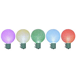 10 LED Multi G50 Color Changing Globe Lights Green Wire