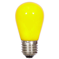 25 LED S14 Patio Ceramic Yellow Retrofit Replacement Bulbs