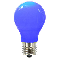 25 A19 LED Blue Ceramic Retrofit Replacement Bulb E26 Nickle Base