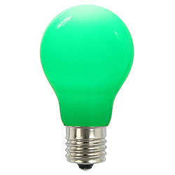 25 A19 LED Green Ceramic Retrofit Replacement Bulb E26 Nickle Base