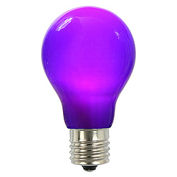 25 A19 LED Purple Ceramic Retrofit Replacement Bulb E26 Nickle Base