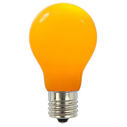 25 A19 LED Yellow Ceramic Retrofit Replacement Bulb E26 Nickle Base