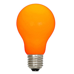 25 A19 LED Orange Ceramic Retrofit Replacement Bulb E26 Nickle Base