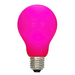 25 A19 LED Pink Ceramic Retrofit Replacement Bulb E26 Nickle Base
