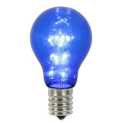 25 A19 LED Blue Transparent Retrofit Replacement Bulb E26 Nickle Base