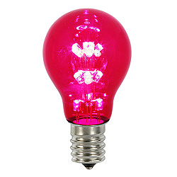 25 A19 LED Red Transparent Retrofit Replacement Bulb E26 Nickle Base