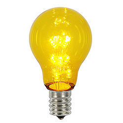 25 A19 LED Yellow Transparent Retrofit Replacement Bulb E26 Nickle Base