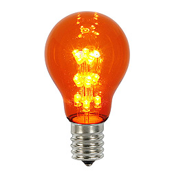 25 A19 LED Amber Transparent Retrofit Replacement Bulb E26 Nickle Base