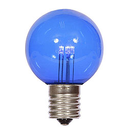 25 LED G50 Globe Blue Transparent Retrofit C9 Socket Replacement Bulbs