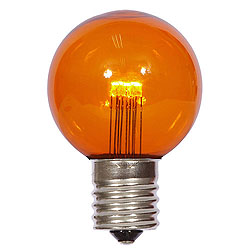 25 LED G50 Globe Amber Transparent Retrofit C9 Socket Replacement Bulbs