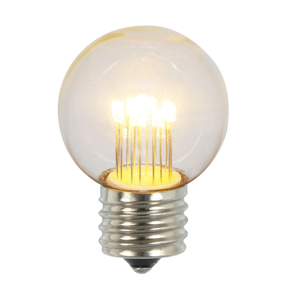 String Lights Bulb Replacement : LED Light Bulbs - G50 Globe Light Replacement Bulbs String Lights Store