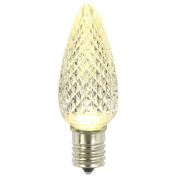 25 LED C9 Warm White Faceted Retrofit Replacement Bulbs