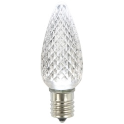 25 LED C9 Pure White Faceted Retrofit Replacement Bulbs