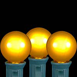25 LED G30 Globe Yellow Ceramic Retrofit Night Light C7 Socket Replacement Bulbs
