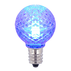 25 LED G30 Globe Blue Faceted Retrofit Night Light C7 Socket Replacement Bulbs