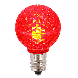 25 LED G30 Globe Red Faceted Retrofit Night Light C7 Socket Replacement Bulbs