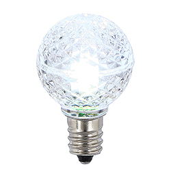 25 LED G30 Globe Cool White Faceted Retrofit Night Light C7 Socket Replacement Bulbs
