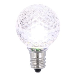 25 LED G30 Globe Pure White Faceted Retrofit Night Light C7 Socket Replacement Bulbs