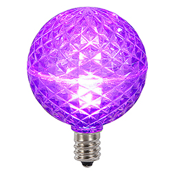 10 LED G50 Globe Purple Faceted Retrofit C7 Socket Replacement Bulbs