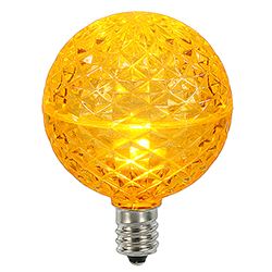 10 LED G50 Globe Yellow Faceted Retrofit C9 Socket Replacement Bulbs